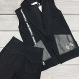 Жилетка, шорти, кюлоти-стильний комплект для дівчинки підлітка