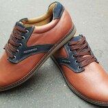 Мужские кожаные кеды кроссовки туфли низкая оптовая цена рыжие коричневые осенние