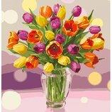 Картина по номерам Идейка. Солнечные тюльпаны 40 50 см KHO3064