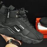 ботинки Nike Air Huarache арт 20675 зимние, мужские, черные