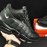 Ботинки зимние Nike Air Max 95 мужские черные