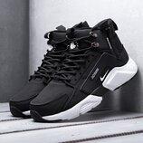 Бесплатная доставка. Как оригинал. Кроссовки Nike Air Huarache Acronym черно-белые KS 1263