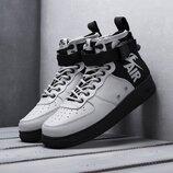 Бесплатная доставка. Как оригинал. Кроссовки Nike SF Air Force 1 Mid серые KS 1270