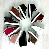 Распродажа Универсальные натуральные кожаные зимние женские ботинки слипоны на шнуровке