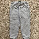 Reserved серые спортивные штаны с легким начесом , размер 98