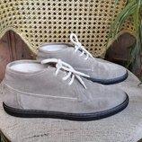 Ботинки Corneliani Корнелиани , Италия, замша, утепленные, шерсть.