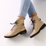Женские демисезонные кожаные ботинки 33-43р