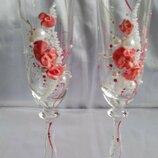 Набор свадебных бокалов для шампанского Bohemia Angela 190 мл х 2 шт.