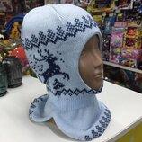 Шапка-Шлем Олени,евро-Зима Тм Бабасик