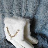 сапожки ботинки мех кролик