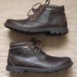 Rockport storm surge plain 46 кожаные мембранные ботинки мужские