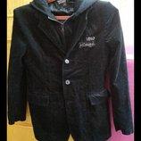 Вельветовый пиджак на 9-13 лет