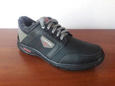 Ботинки мужские зимние черные спортивные - черевики чоловічі зимові чорні