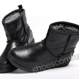 Мужские кожаные сапоги угги Levi's Winter черные