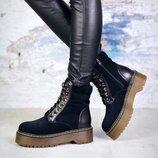 Ботинки Class . Натуральная замша кожа. Цвет черный.НК