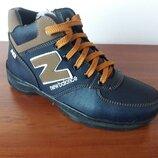 Женские зимние ботинки синие