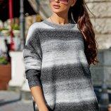 Теплый стильный свитер 6166