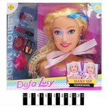 кукла-манекен Defa Lucy 8401 с аксессуарами, голова-манекен для причесок с косметикой, расческой