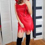 Костюм платье красное на хэллоуин