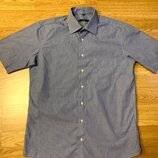 Фирменная мужская рубашка Aldo Colitti,яркая рубашка в клеточку