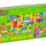 Мега Набор деревянный конструктор, 72 дет.,деревянные игрушки,игрушки из дерева