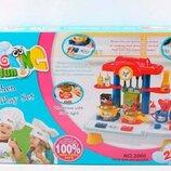 Детская Кухня игровой набор Веселая кухня 29 элементов, звук, свет, 44 x 34 x 42 см, 2060