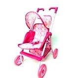 Коляска металл летняя в кор. SPL308549 розовая игровая коляска для кукол