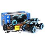 Машинка на радиоуправлении Racing Car на роликовых колесах голубая пульт, аккумулятор, зарядка