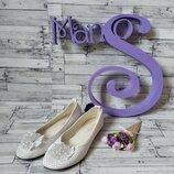 Белые балетки кожа Prima D'Arte сетка