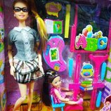 Кукла Учитель с ученицей JX 200-73, с аксессуарами