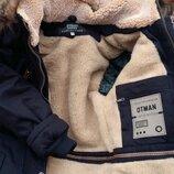 Куртка зимняя с капюшоном с мехом на мальчика парка