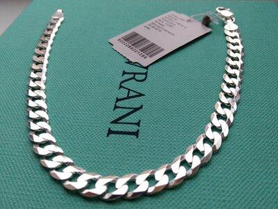 Серебряный браслет 21 см плетение Картье Гурмет панцирное серебро 925