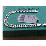Серебряный браслет 20 см плетение Двойной ромб серебро 925 пробы