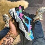 Разноцветные кроссовки унисекс Nike M2K Tekno Rainbow.