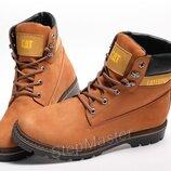 Зимние кожаные ботинки на меху CAT Caterpillar Desert Boots