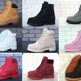 Натуральный нубук мех, теплые ботинки зимние женские, мужские, р 36-45, YOFTB