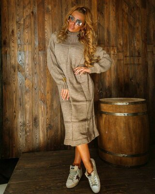 Вязаное платье, 4 цвета