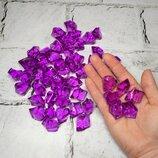 Кристаллы Лед колотый фиолетовый, декоративный, акрил, 2,8х2 см, 50 шт