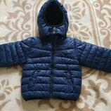 Теплая курточка-пуховик на 1-2 года