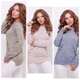 Стильный свитер- реглан 44-50, 7 цветов ///отправка сразу