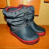 Оригинал, зимние непромокаемые сапоги Crocs Kids Winter Puff Boot, дутики, крокс С11