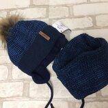 Зимний набор на мальчика шапка хомут agbo 50-52