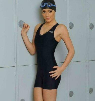 10-12 практичный спортивный цельный купальник шортами костюм Триатлон