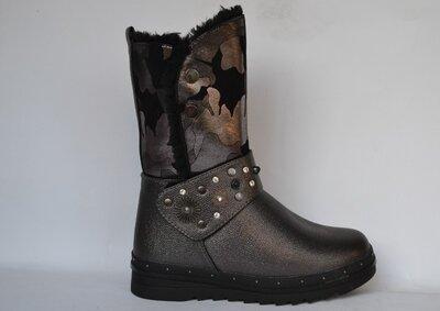 Зимние ботинки, полусапожки для девочек Тм Том.м р.33-38