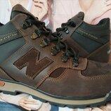 New Balance Winter Мужские зимние кожаные коричневые полуспортивные ботинки Nb
