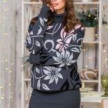 Теплый костюм с юбкой-карандаш мини «Вероника»