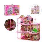 Домик для кукол 6992 3 этажа, свет, 8 комнат, мебель