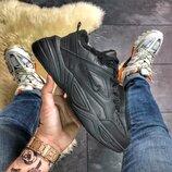 Черные мужские кроссовки Nike M2K Tekno Triple Black МЕХ .