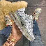 Мужские белые кроссовки Nike Air Max 720 Gray Clear Sole. весна/лето