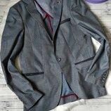Мужской пиджак Soul&City клетка с локтями